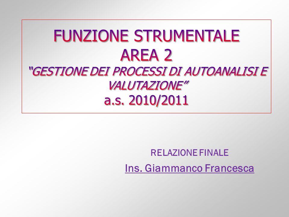RELAZIONE FINALE Ins. Giammanco Francesca
