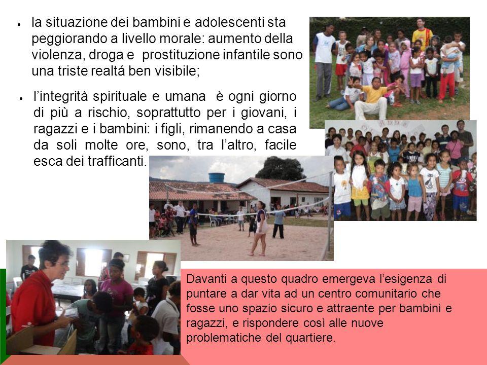 la situazione dei bambini e adolescenti sta peggiorando a livello morale: aumento della violenza, droga e prostituzione infantile sono una triste real