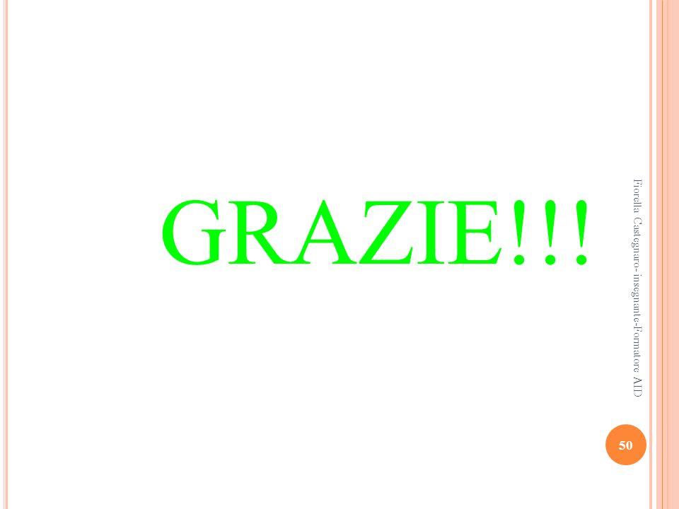 GRAZIE!!! 50 Fiorella Castegnaro- insegnante-Formatore AID