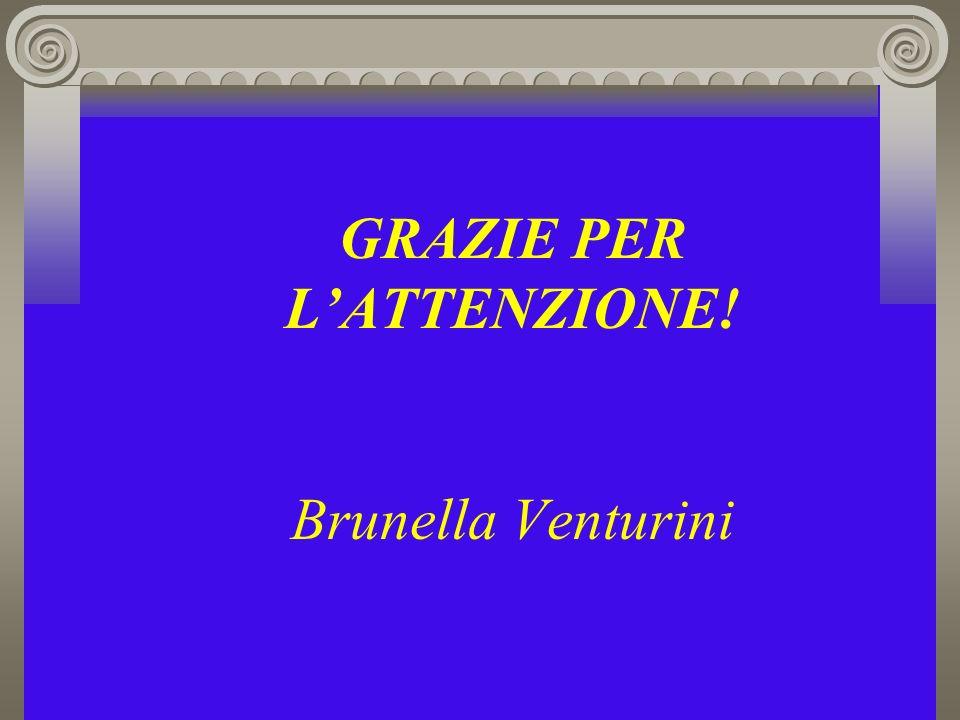GRAZIE PER LATTENZIONE! Brunella Venturini