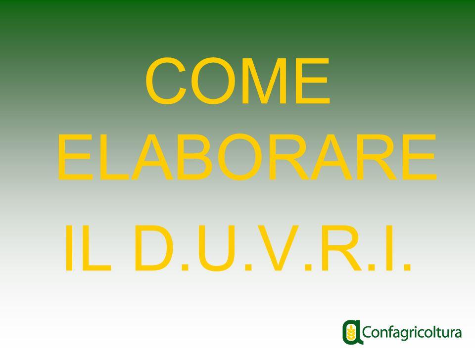 COME ELABORARE IL D.U.V.R.I.