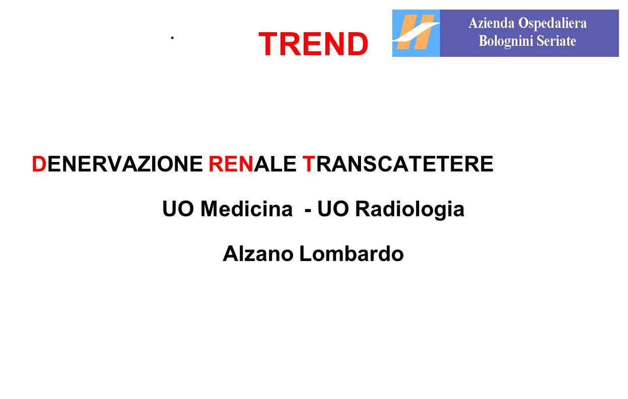 . TREND DENERVAZIONE RENALE TRANSCATETERE UO Medicina - UO Radiologia Alzano Lombardo