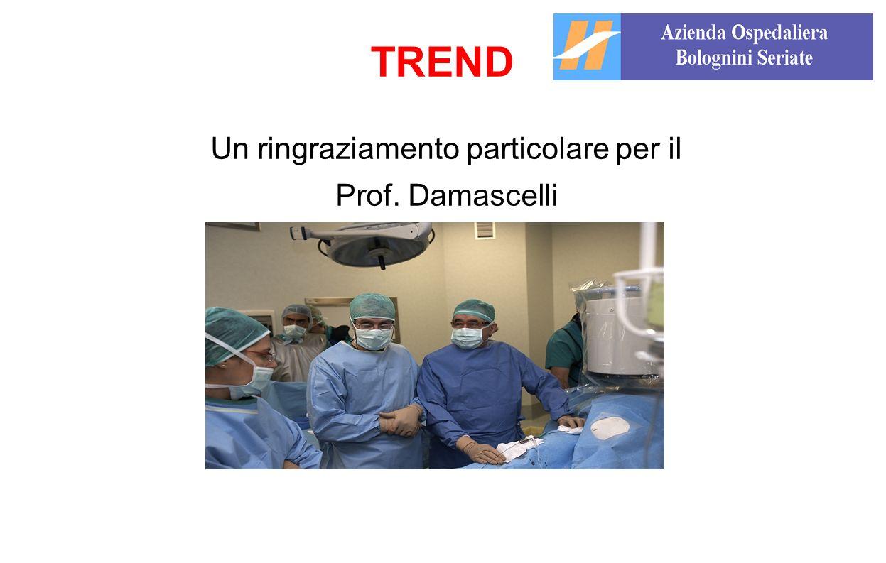 Un ringraziamento particolare per il Prof. Damascelli TREND