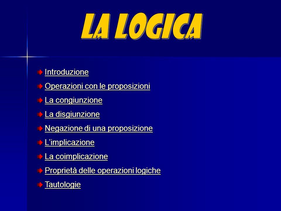 La logica opera con le proposizioni o enunciati, cioè tutte le frasi che possono essere definite vere o false.