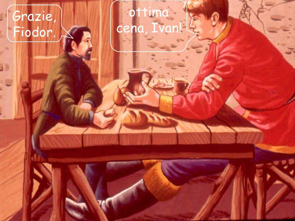 02/03/201413 Mentre invece quando Fiodor andava da Ivan doveva allungare le gambe sotto il tavolo ed aveva l impressione di essere seduto a terra.