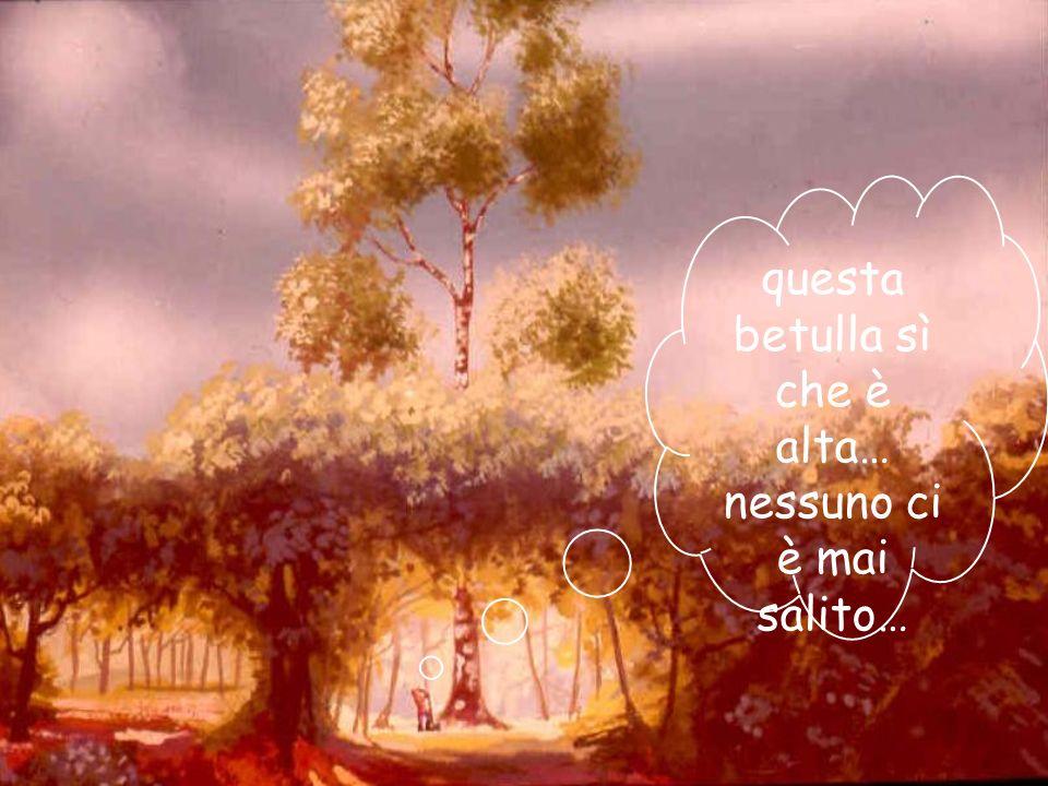 02/03/201437 Un giorno egli giunse ai piedi di una betulla altissima. I vecchi dicevano che toccava il cielo con i rami più alti, ma nessuno vi era ma