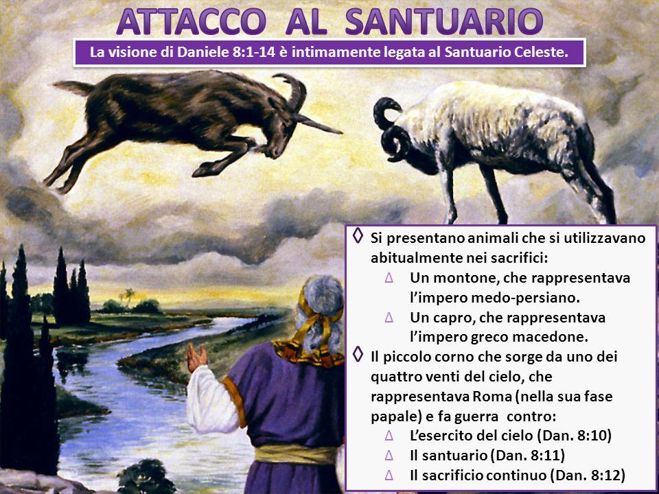 La visione di Daniele 8:1-14 è intimamente legata al Santuario Celeste. Si presentano animali che si utilizzavano abitualmente nei sacrifici: Un monto
