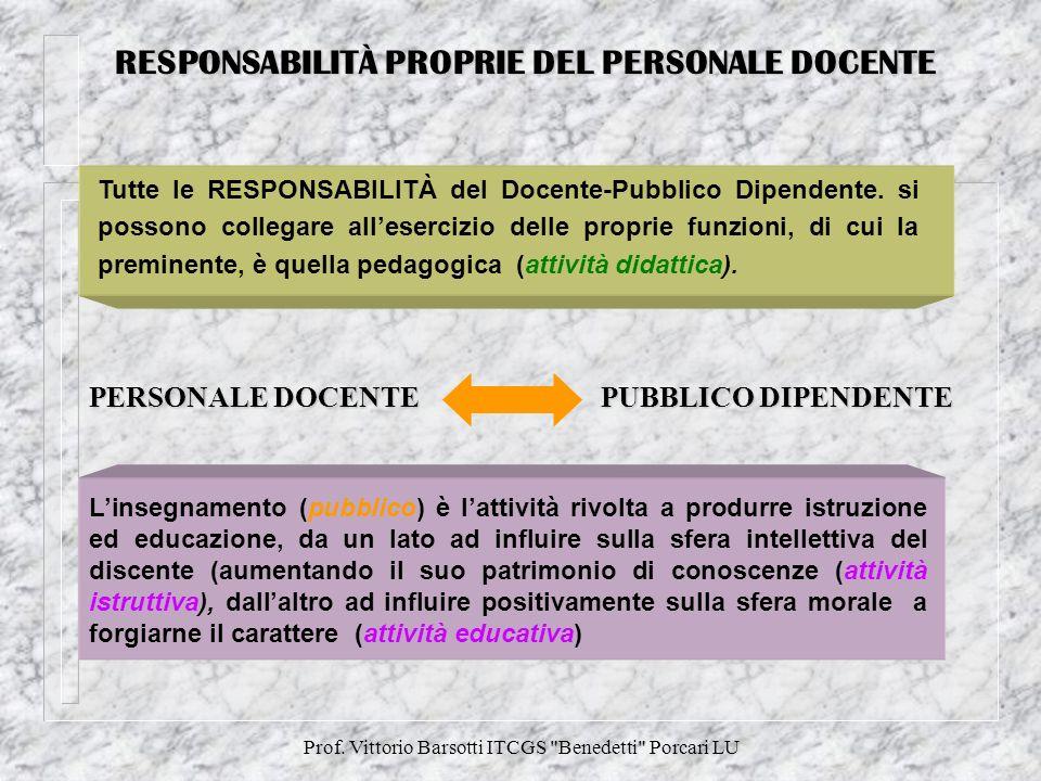 Prof.Vittorio Barsotti ITCGS Benedetti Porcari LU IL T.U.