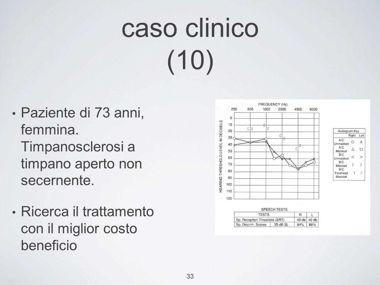 33 caso clinico (10) Paziente di 73 anni, femmina.