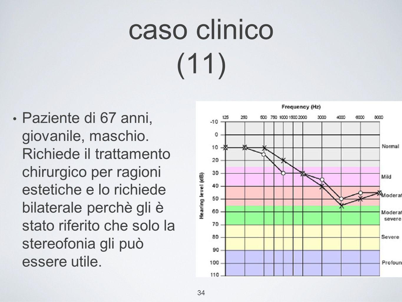 34 caso clinico (11) Paziente di 67 anni, giovanile, maschio.