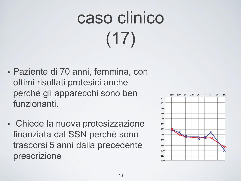 40 caso clinico (17) Paziente di 70 anni, femmina, con ottimi risultati protesici anche perchè gli apparecchi sono ben funzionanti.