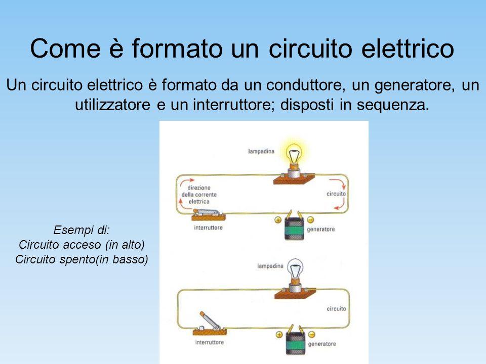Tipi di circuiti Esistono vari tipi di circuiti ma quelli più importanti sono i e.