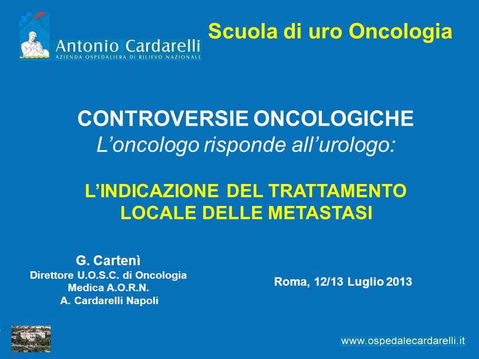 Scuola di uro Oncologia G. Cartenì Direttore U.O.S.C.