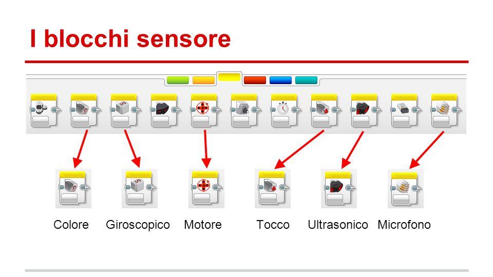 I blocchi sensore ColoreGiroscopicoMotore Tocco UltrasonicoMicrofono