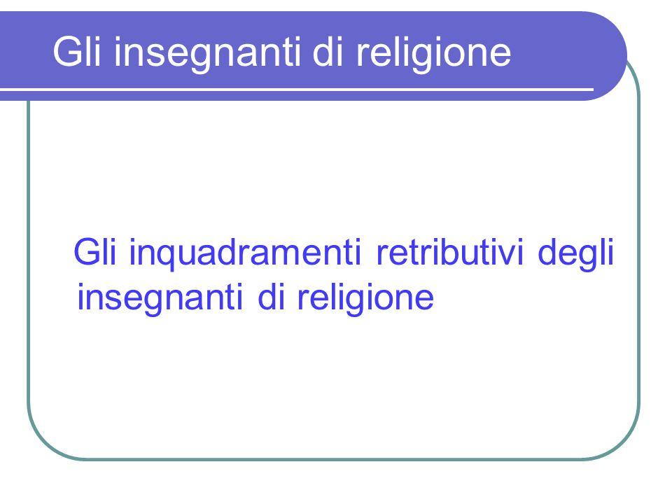Gli insegnanti di religione Gli inquadramenti retributivi degli insegnanti di religione