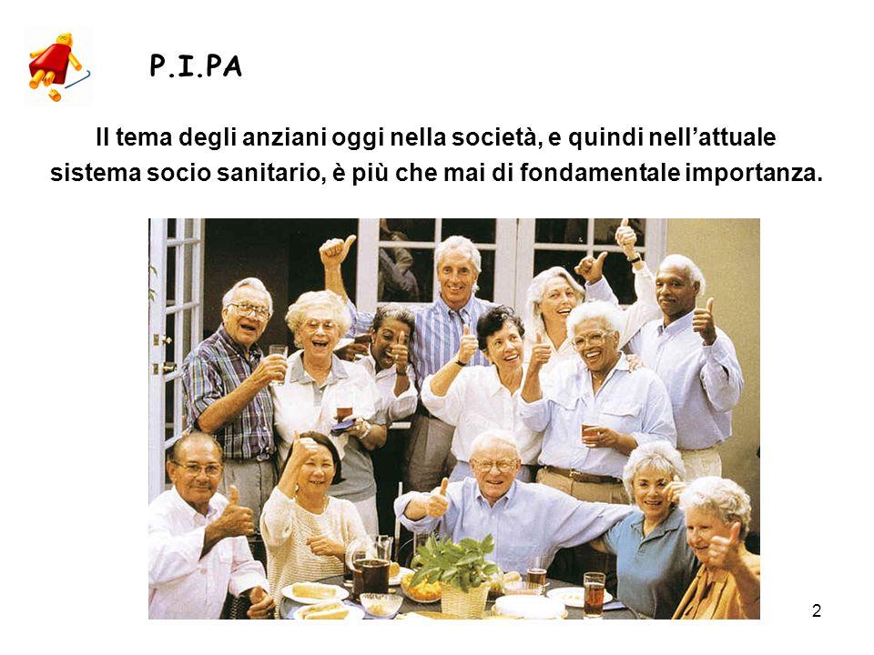 2 Il tema degli anziani oggi nella società, e quindi nellattuale sistema socio sanitario, è più che mai di fondamentale importanza.