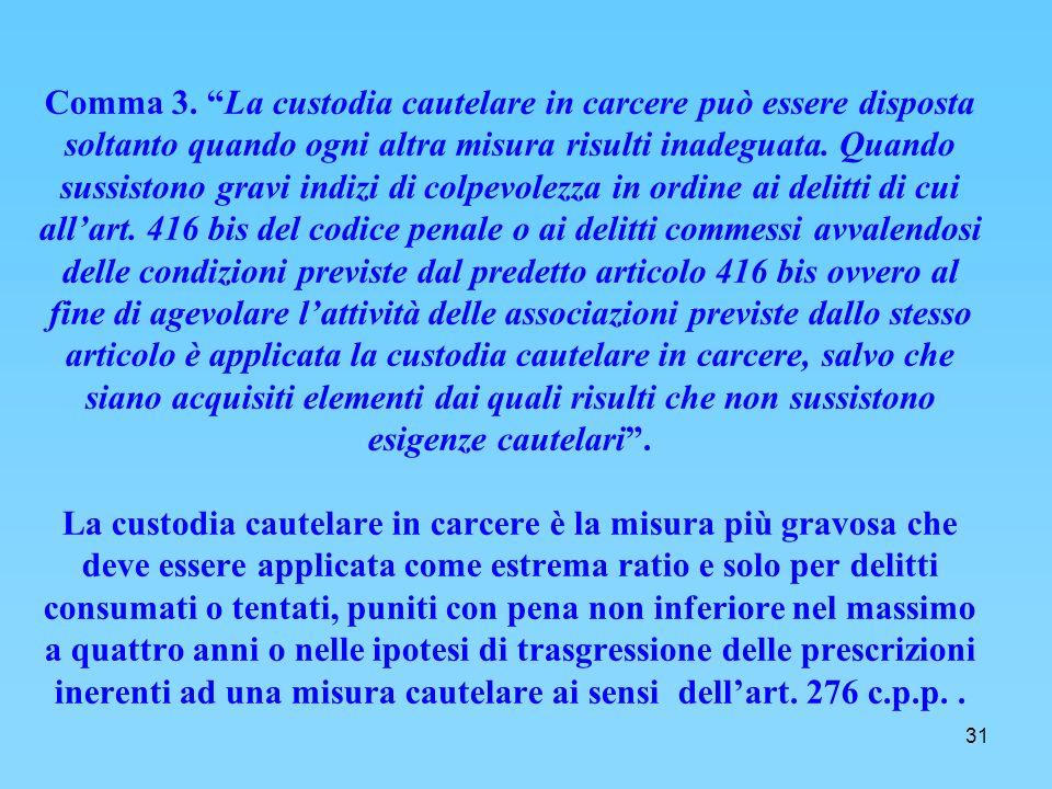31 Comma 3.
