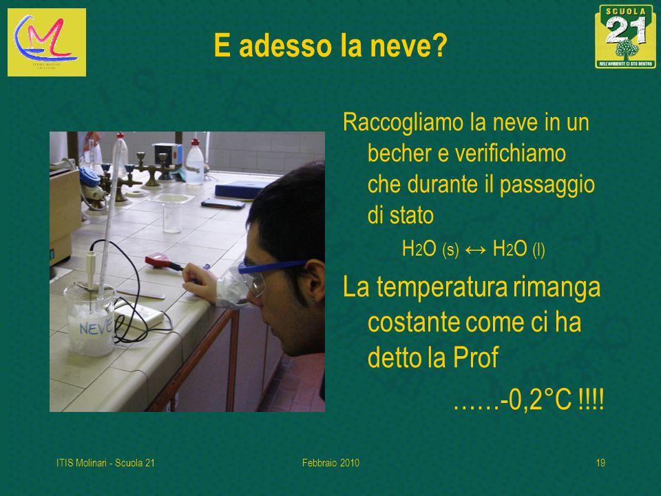 ITIS Molinari - Scuola 21Febbraio 201019 E adesso la neve.