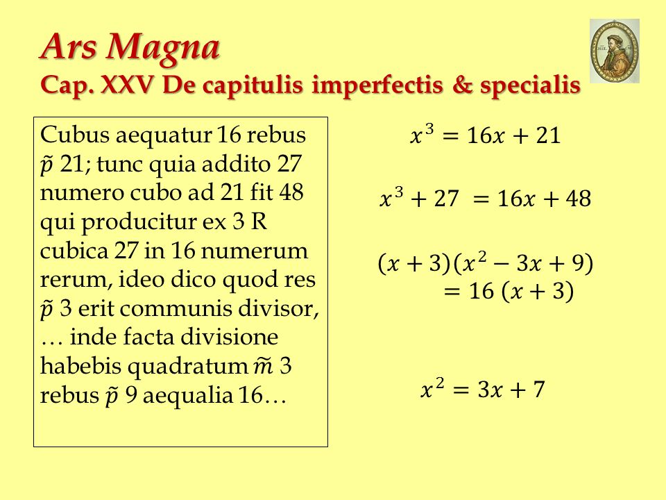 Ars Magna Cap. XXV De capitulis imperfectis & specialis