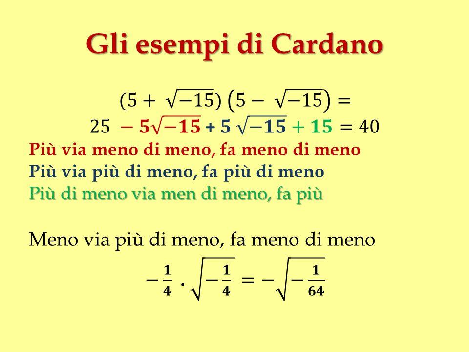 Gli esempi di Cardano