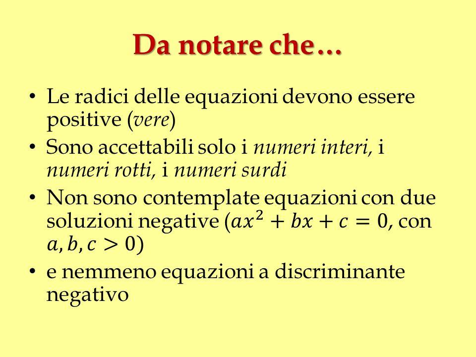 La regola di Tartaglia 25 marzo 1539 Quando chel cubo con le cose appresso Se agguaglia à qualche numero discreto x 3 + p x = q [1] Trovan due altri differenti in esso u – v = q Chel lor produtto sempre sia eguale Al terzo cubo delle cose netto uv = (p/3) 3
