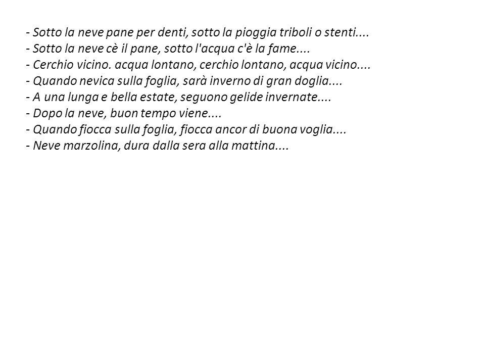 Proverbi locali in dialetto lombardo Se al pioeu a San Bernardu (20/08) l è bona ma l è tardu.