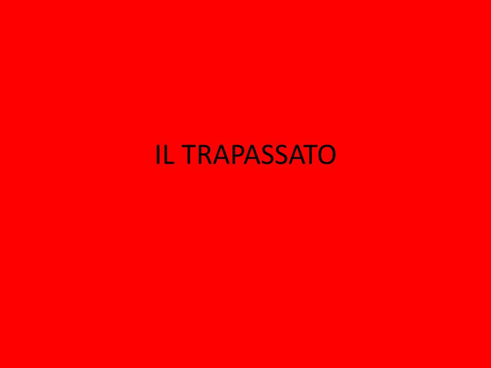 The trapassato is formed with the imperfect of essere or avere and the past participle of the verb; if essere is needed, then the past participle must agree with the subject.imperfect essere or avere It has an English equivalent: ero andato=I had gone; avevamo mangiato=we had eaten, etc.