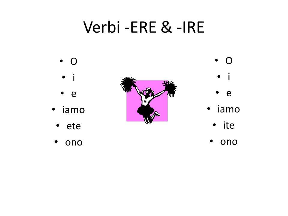 Quali sono i verbi?
