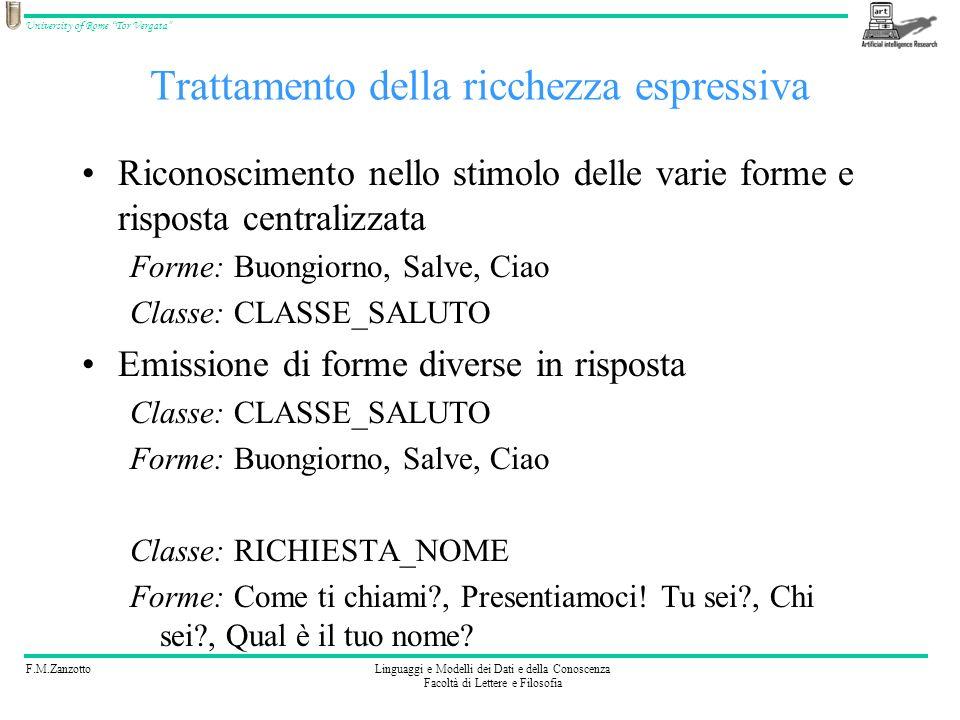 F.M.ZanzottoLinguaggi e Modelli dei Dati e della Conoscenza Facoltà di Lettere e Filosofia University of Rome Tor Vergata Automa degli stati del discorso