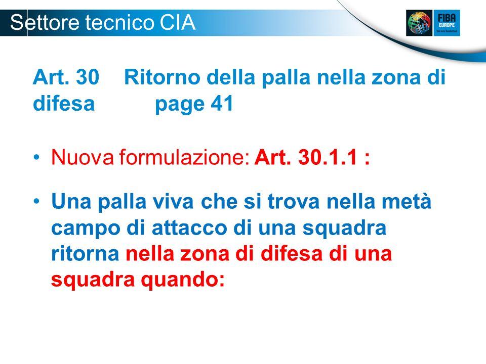 Art.33 Contatti: Principi generali page 47 Nuova formulazione: Art.