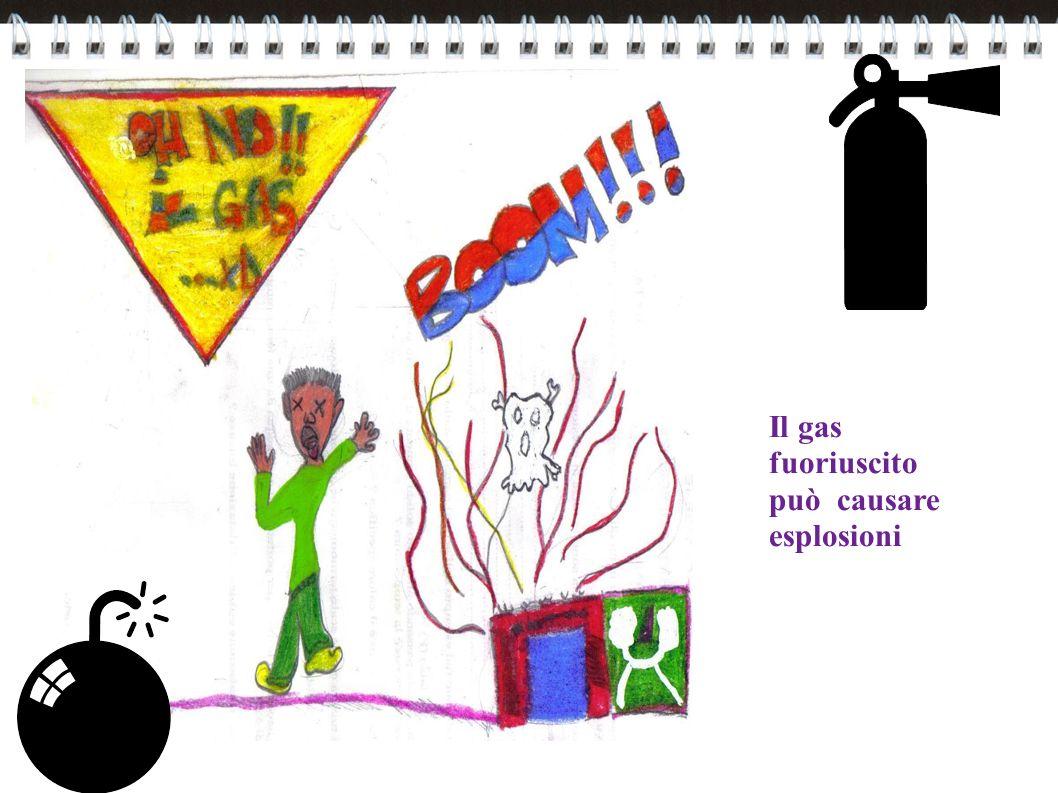 Il gas fuoriuscito può causare esplosioni