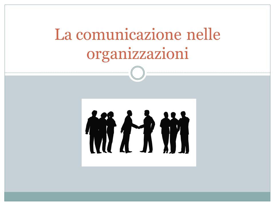 La comunicazione nelle organizzazioni