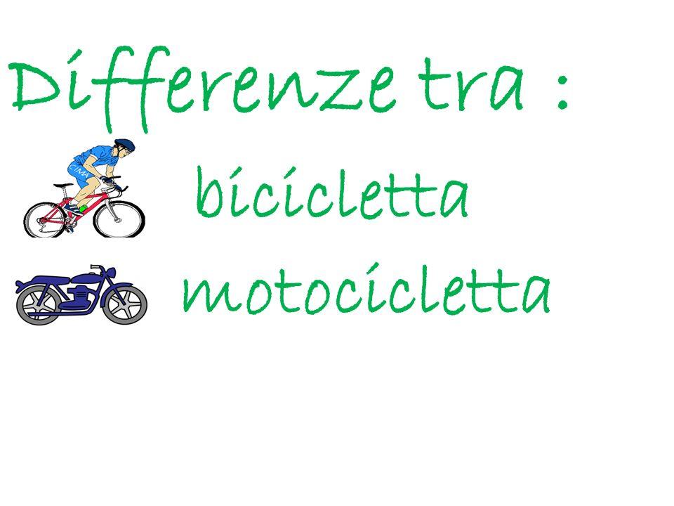 La bicicletta funziona con la forza delluomo non ha un motore per guidarla non occorre avere la patente o il patentino non inquina e non consuma benzina
