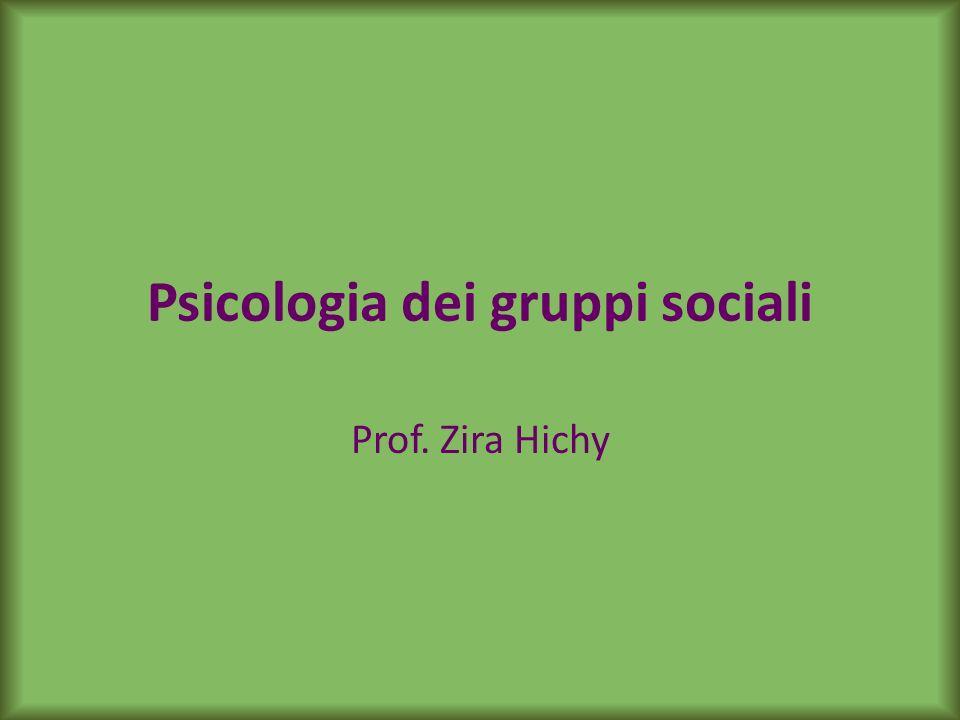 Testi di riferimento Brown, R.(2005). Psicologia sociale dei gruppi.