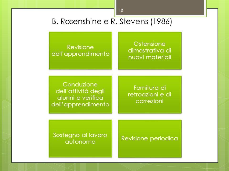 18 B. Rosenshine e R. Stevens (1986)