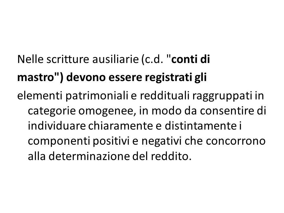 Nelle scritture ausiliarie (c.d.