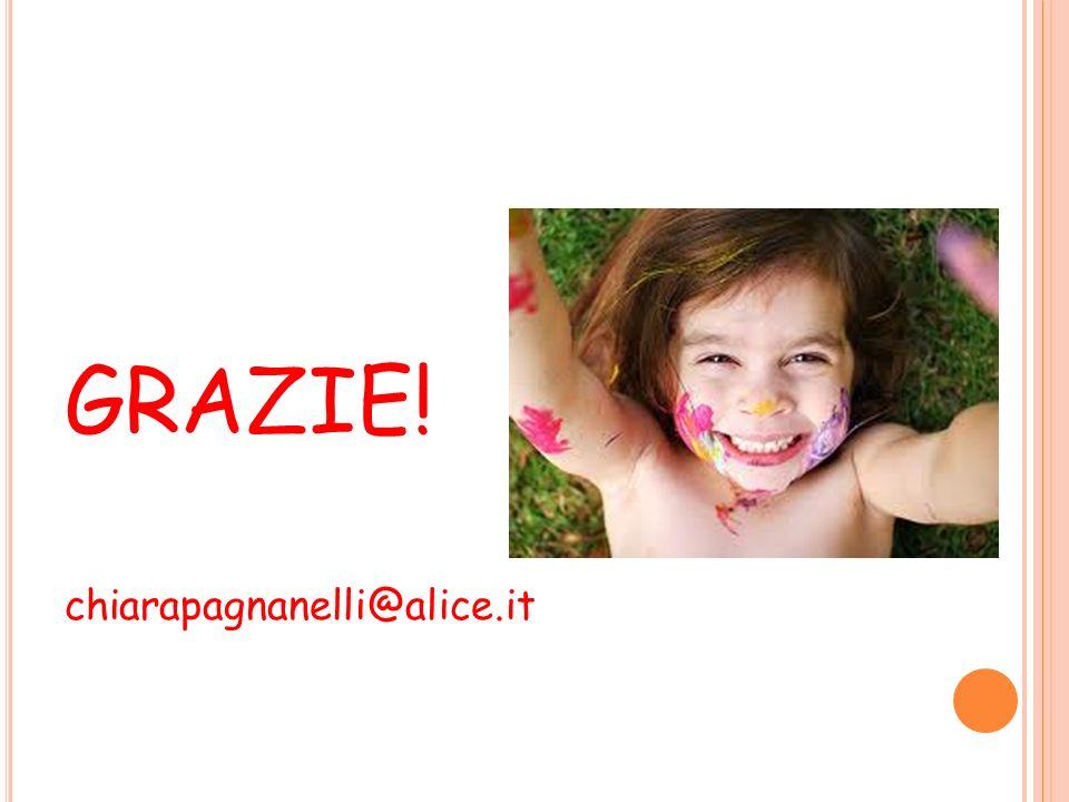 GRAZIE! chiarapagnanelli@alice.it