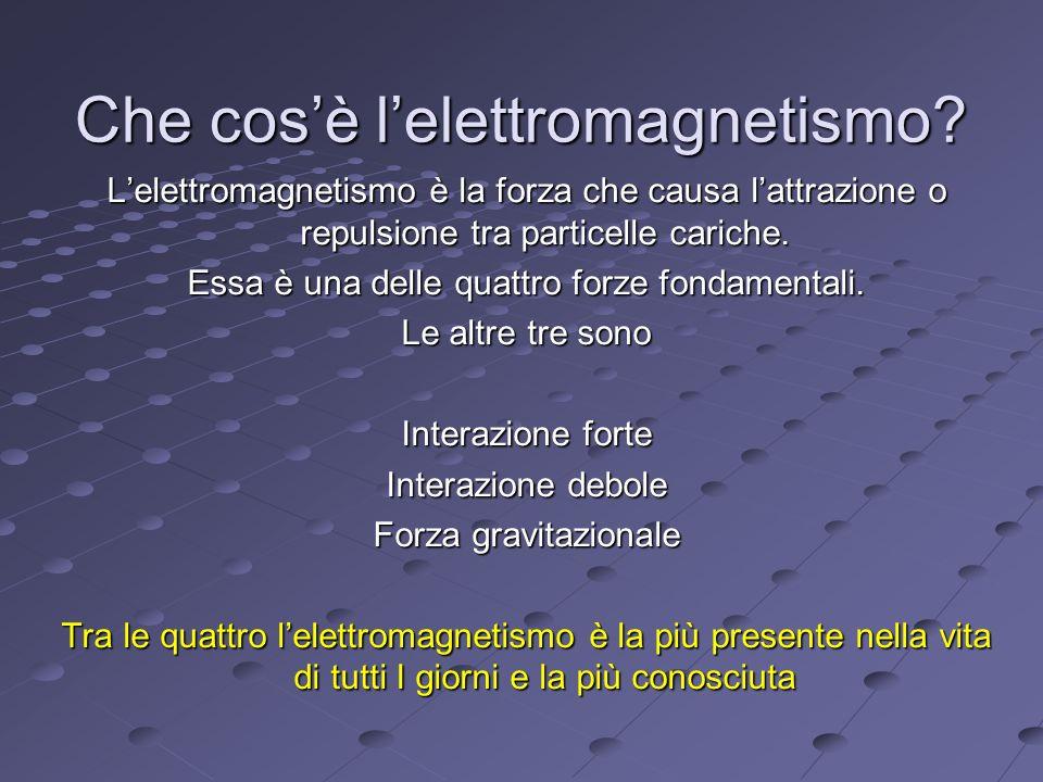 Che cosè lelettromagnetismo.