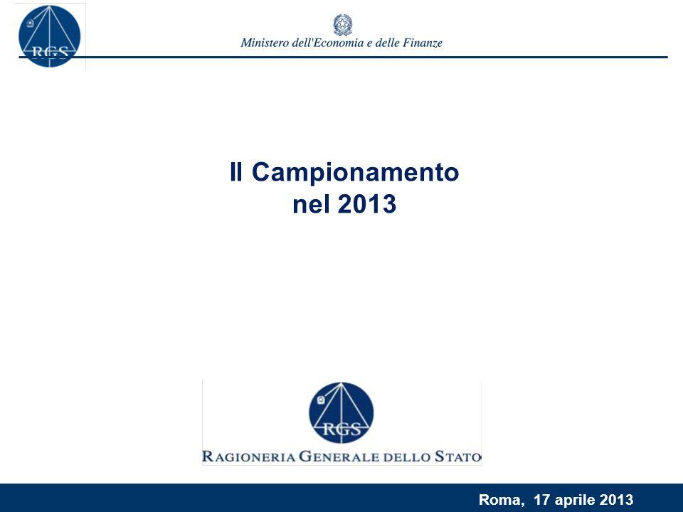 Roma, 17 aprile 2013 Il Campionamento nel 2013