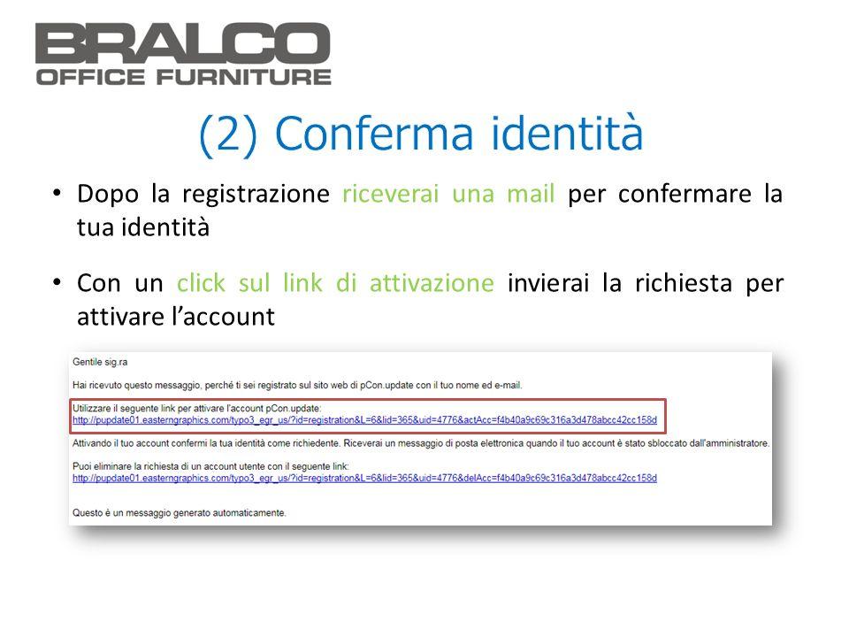 Dopo la registrazione riceverai una mail per confermare la tua identità Con un click sul link di attivazione invierai la richiesta per attivare laccou