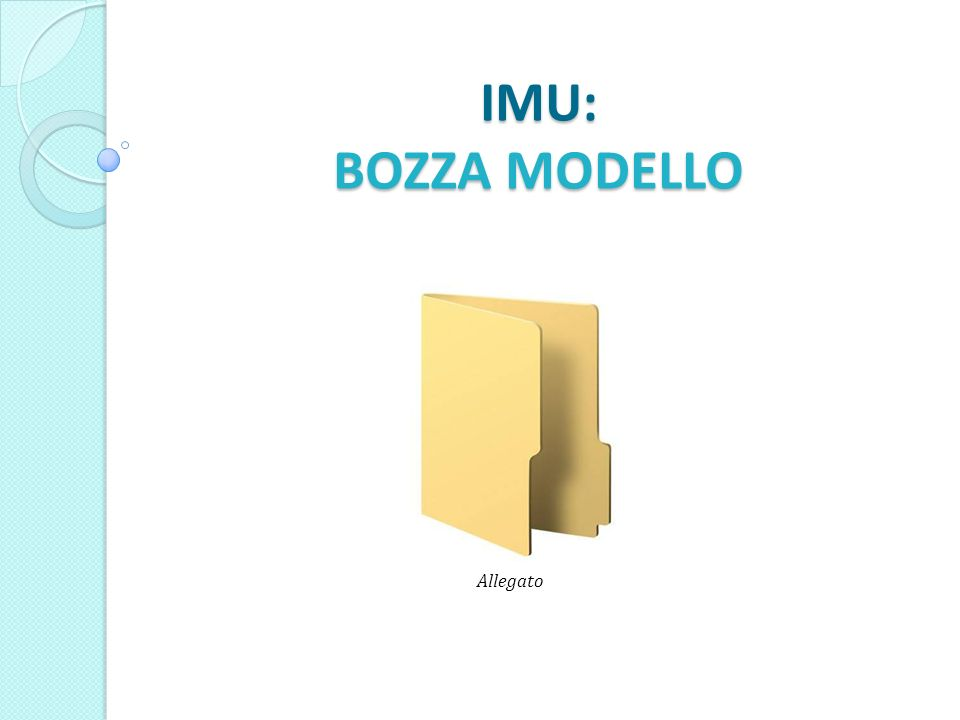 IMU: BOZZA MODELLO Allegato
