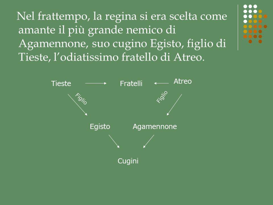 Prima che Agamennone sia giunto alla reggia, un araldo ne preannuncia larrivo…...Preannuncia che di Troia resta solo pietra su pietraanche i templi degli dei sono stati abbattuti dalle fondamenta.