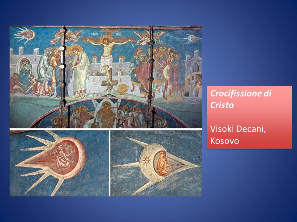 Crocifissione di Cristo Visoki Decani, Kosovo Crocifissione di Cristo Visoki Decani, Kosovo