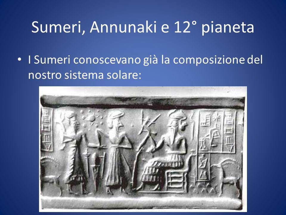 Sumeri, Annunaki e 12° pianeta I Sumeri conoscevano già la composizione del nostro sistema solare: