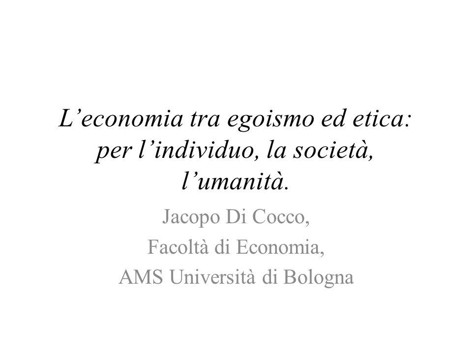Uno schema sui rapporti tra produzione e risultati relativo ad una branca specifica presentato a IARIW 2008 Economia tra egoismo ed etica22