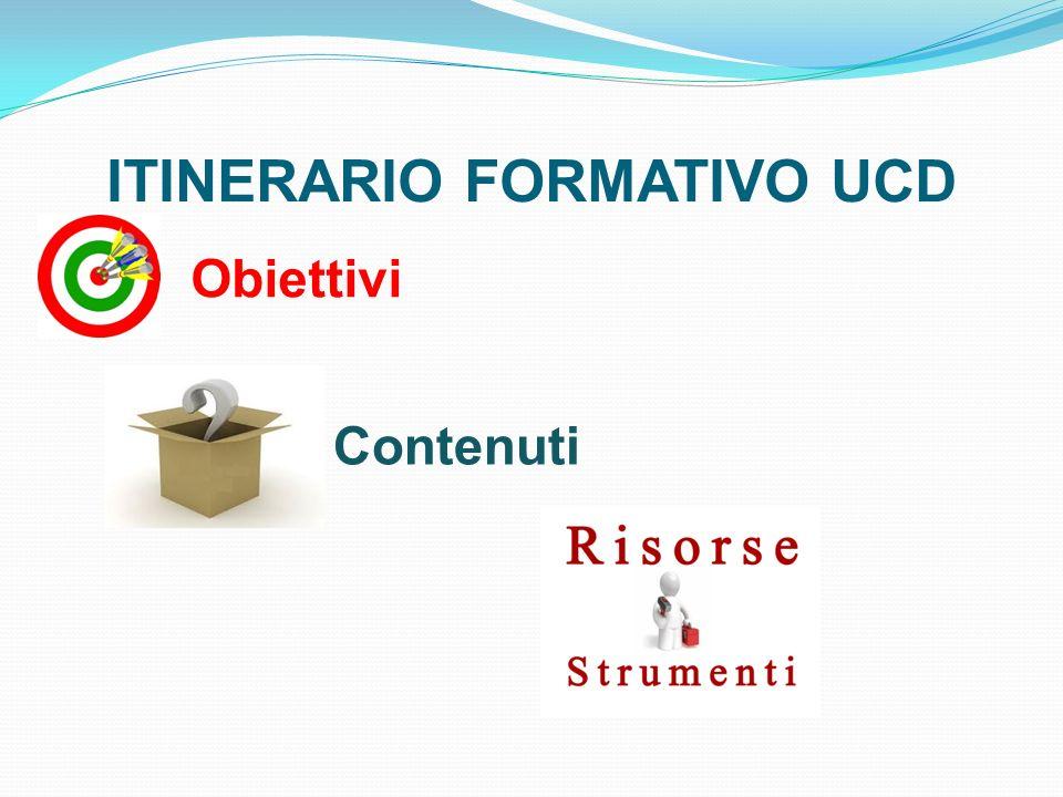 ITINERARIO FORMATIVO UCD Obiettivi Contenuti