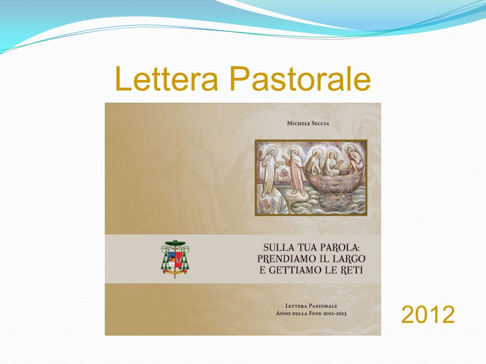 Lettera Pastorale 2012