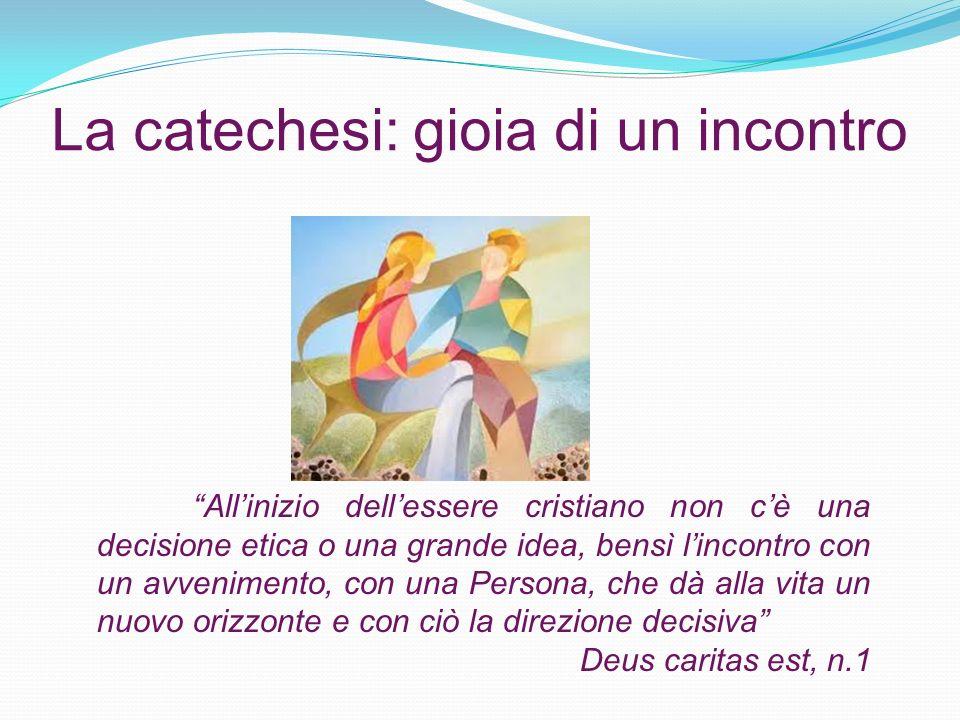 La catechesi: gioia di un incontro Allinizio dellessere cristiano non cè una decisione etica o una grande idea, bensì lincontro con un avvenimento, co