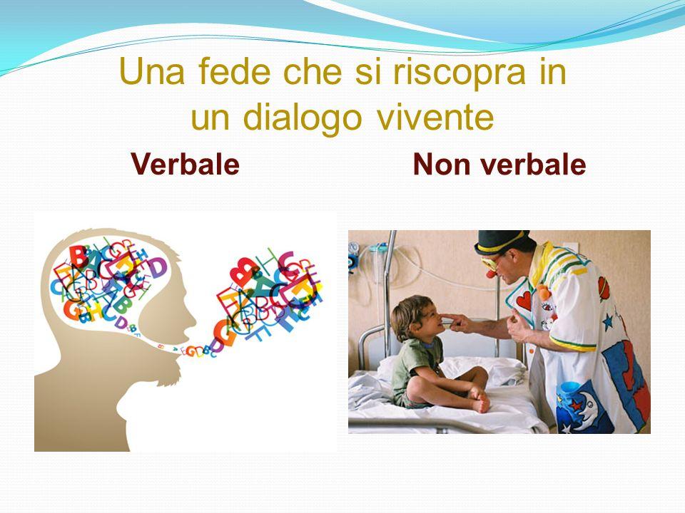 Una fede che si riscopra in un dialogo vivente Verbale Non verbale