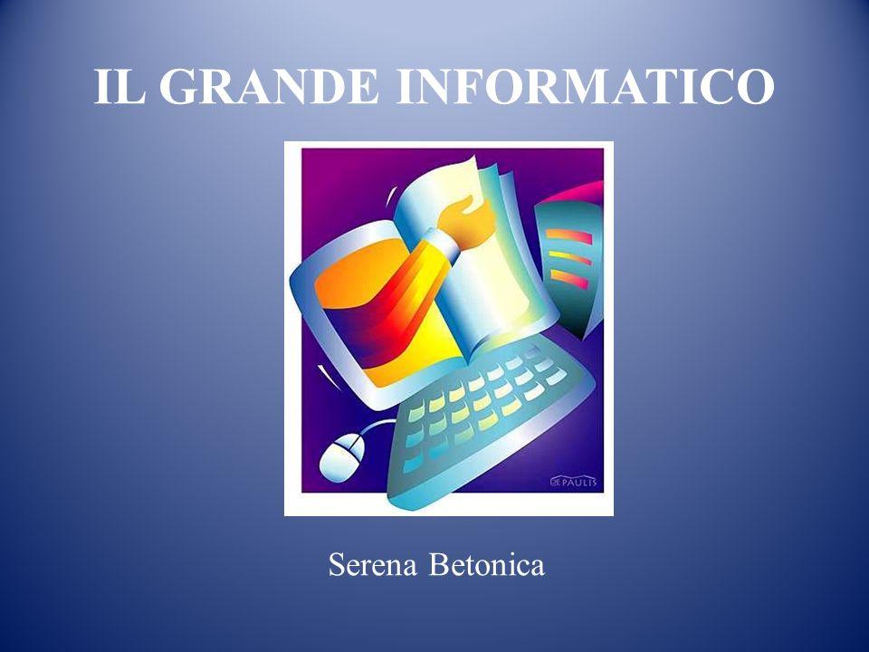 IL GRANDE INFORMATICO Serena Betonica